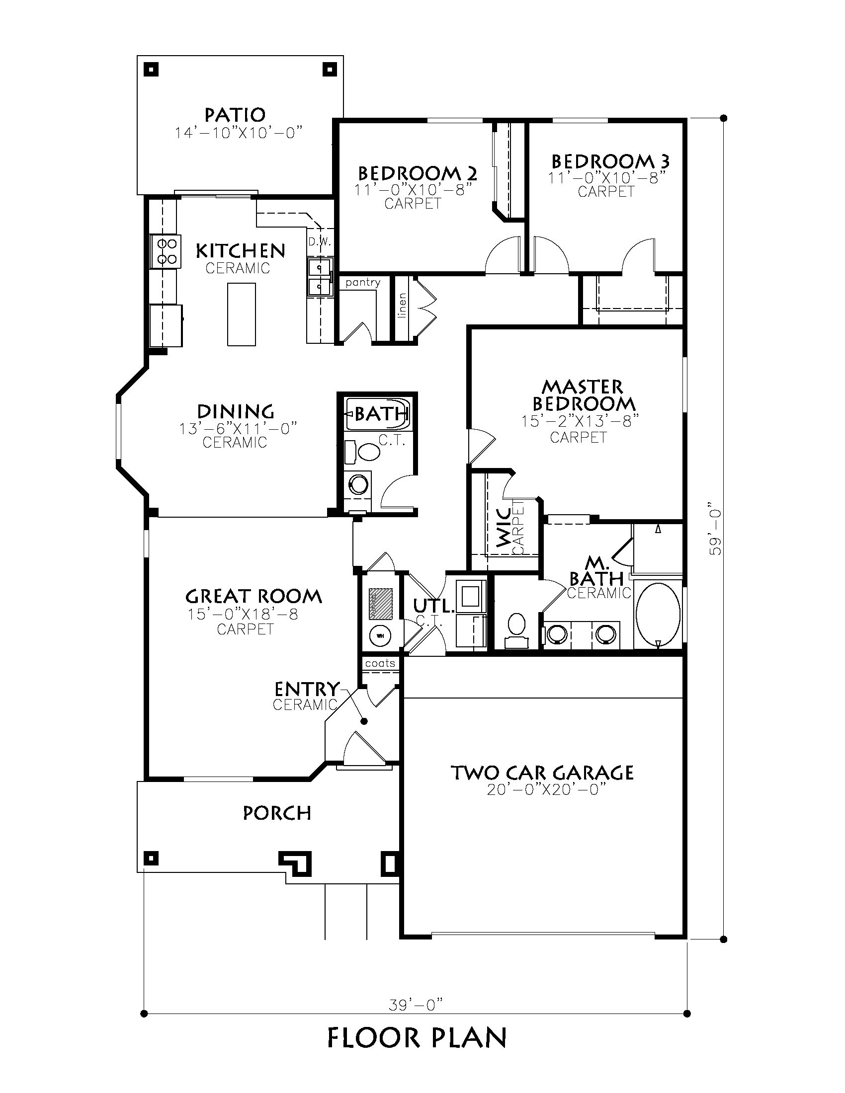 Classic american homes floor plans american classic for Classic american el paso
