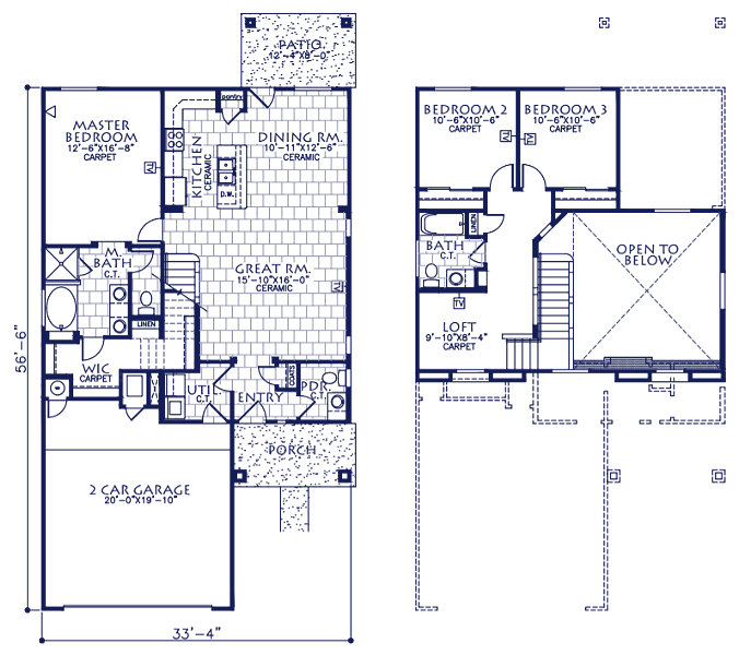 The oklahoma classic american homes builders in el paso for Classic american homes floor plans